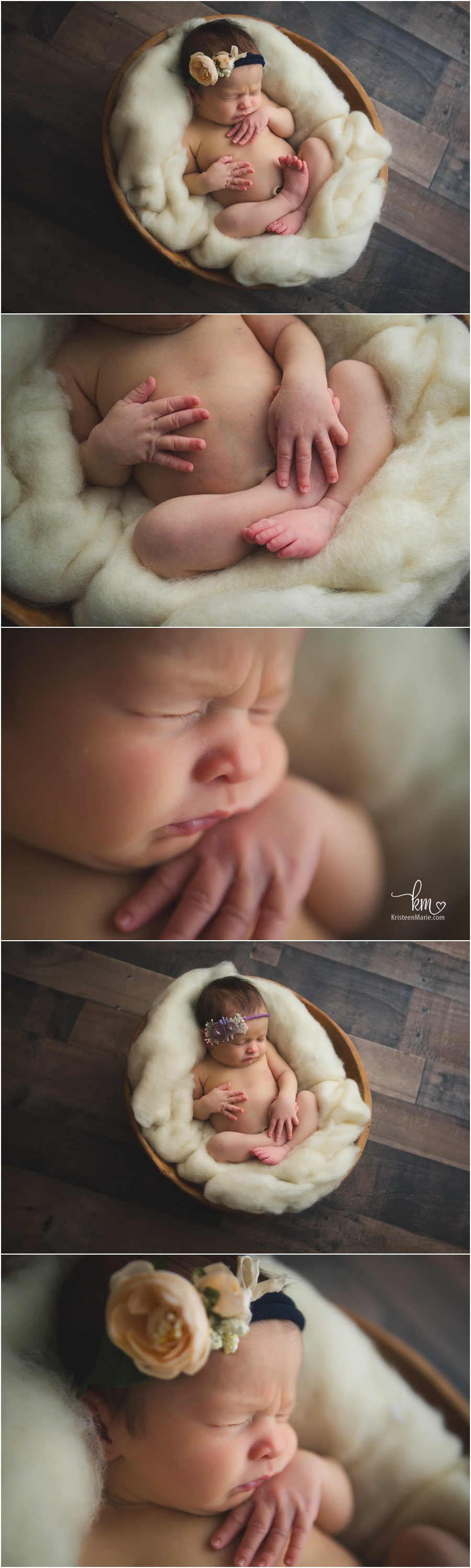baby on dark wood - moody newborn images