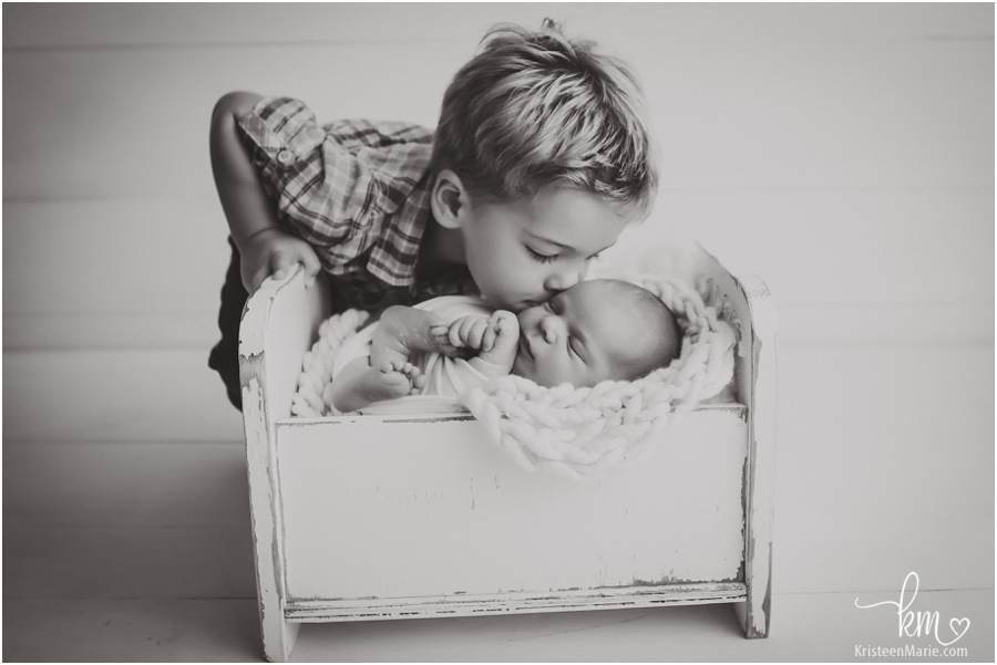 siblings - newborn + big brother - Noblesville Newborn Photography