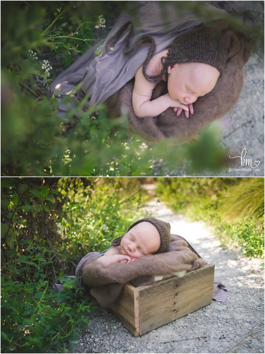 outdoor newborn photography in Indianapolis, Indiana