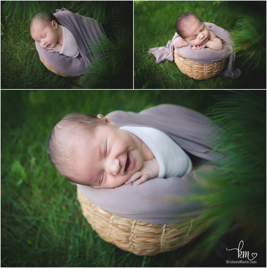 outdoor newborn picture