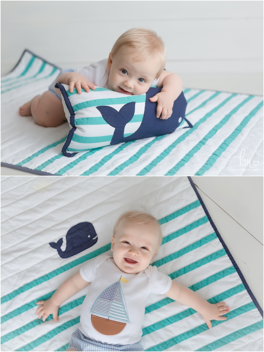 Cooper with whale bedding