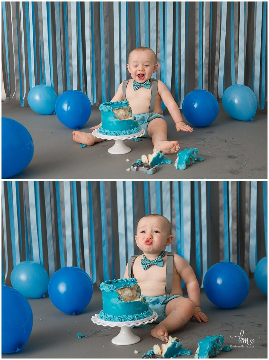 first birthday cake smash for a boy