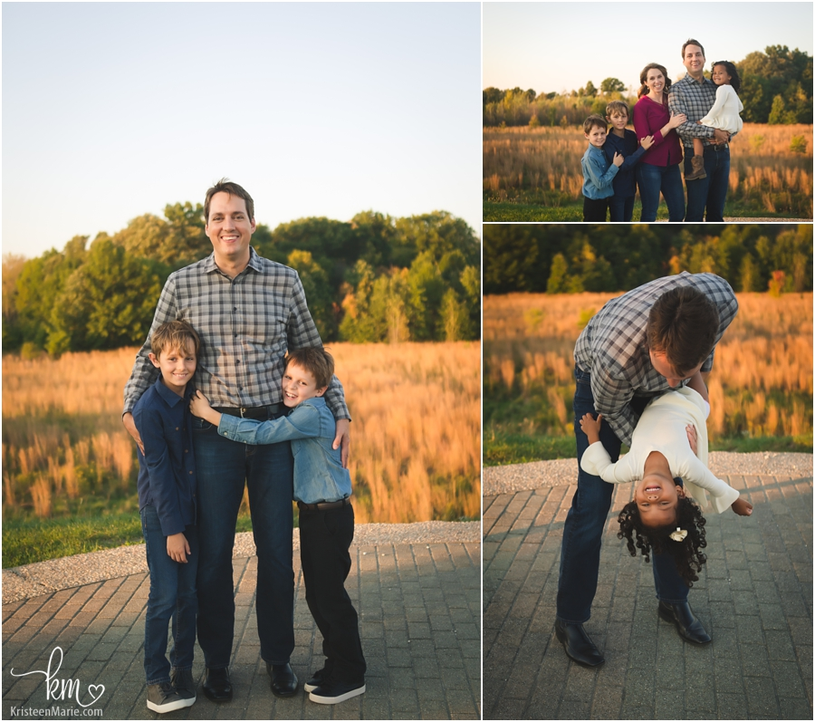 family pictures with dad at sunset