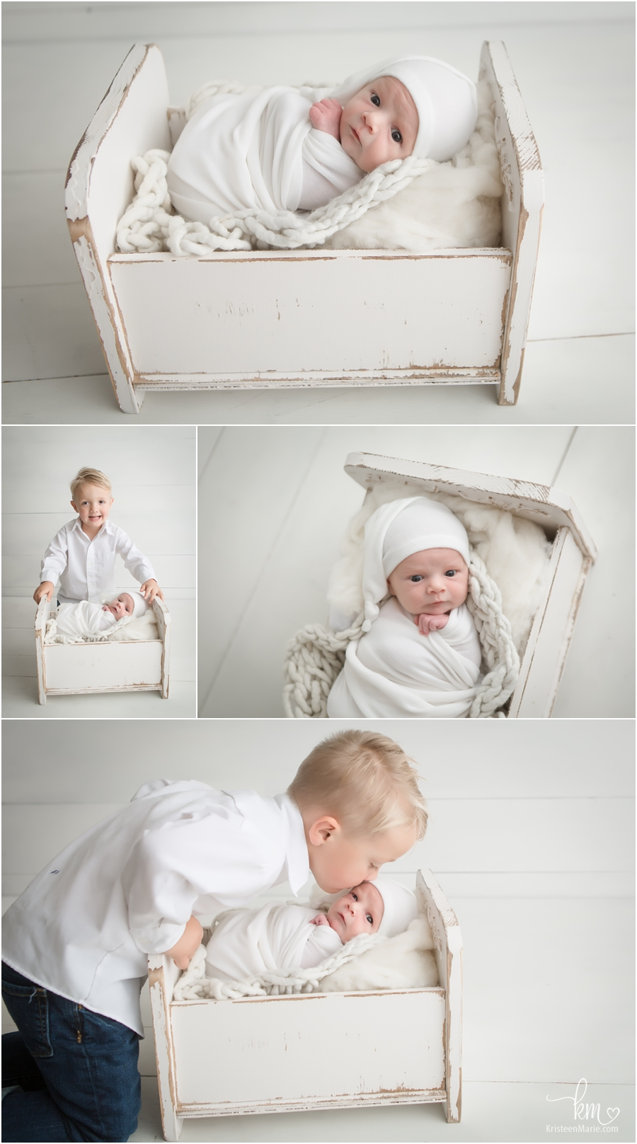 awake newborn and big brother - Carmel newborn photography