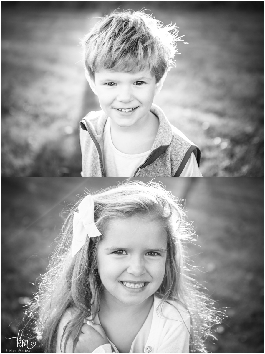 Kids portraits in black and white