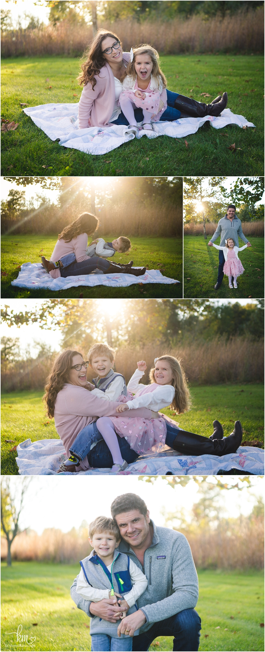 parent and kid shots - beautifully backlit images - family photography in Carmel, Indiana