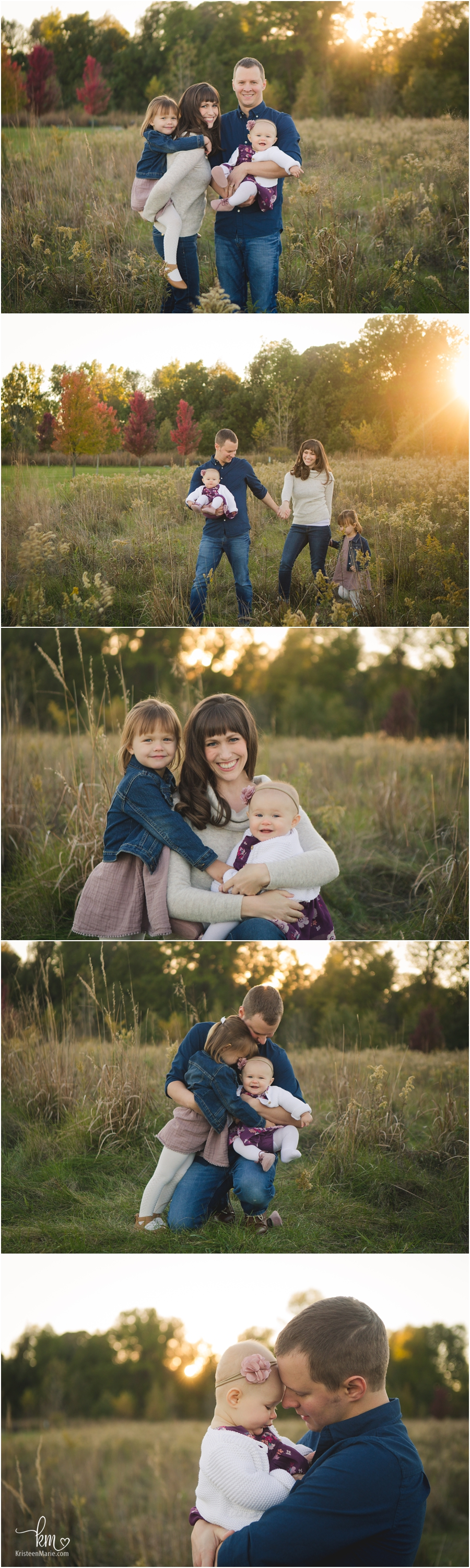 family pictures in a field - Carmel, Indiana family photography