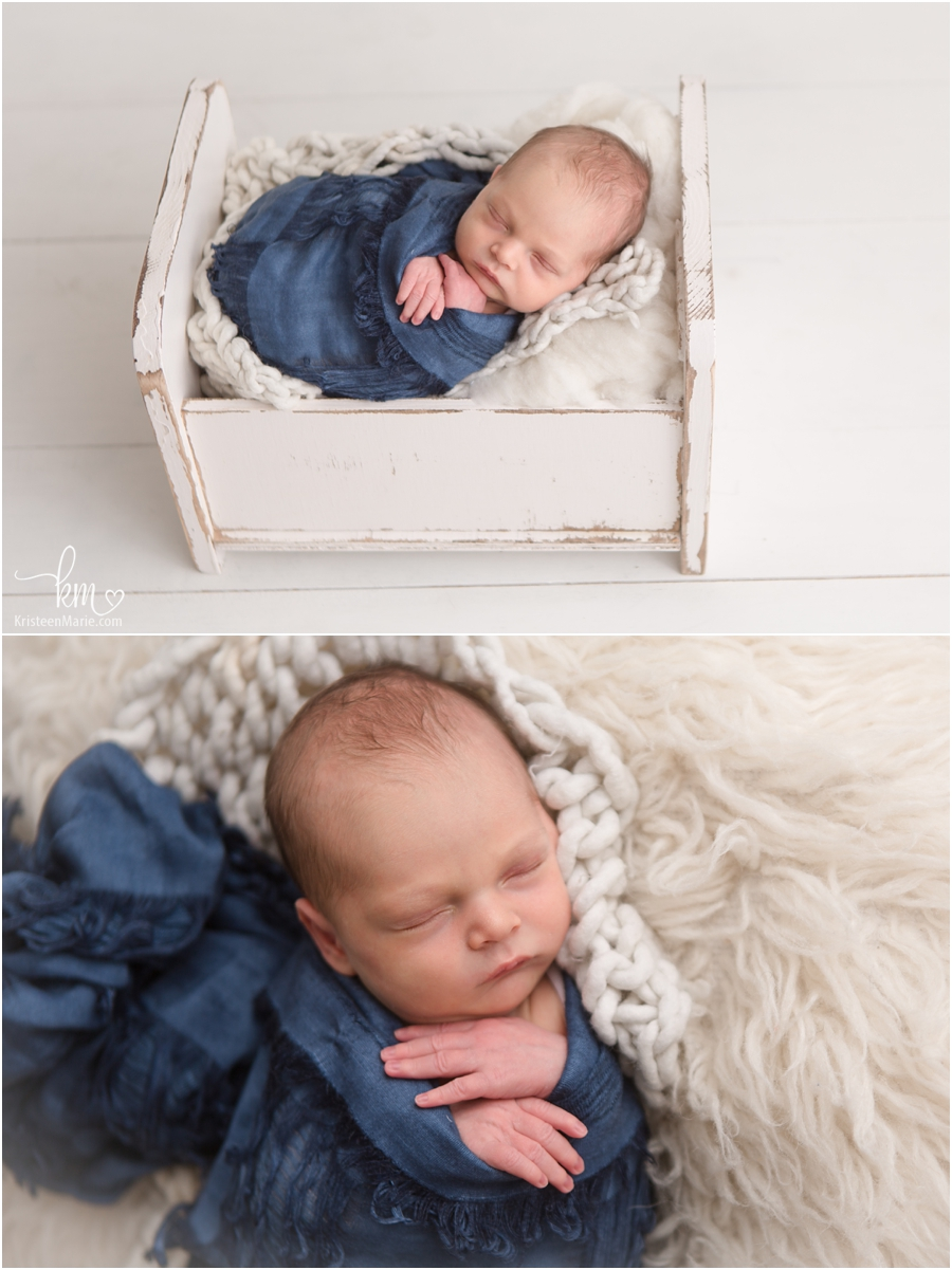 wrapped newborn baby picture
