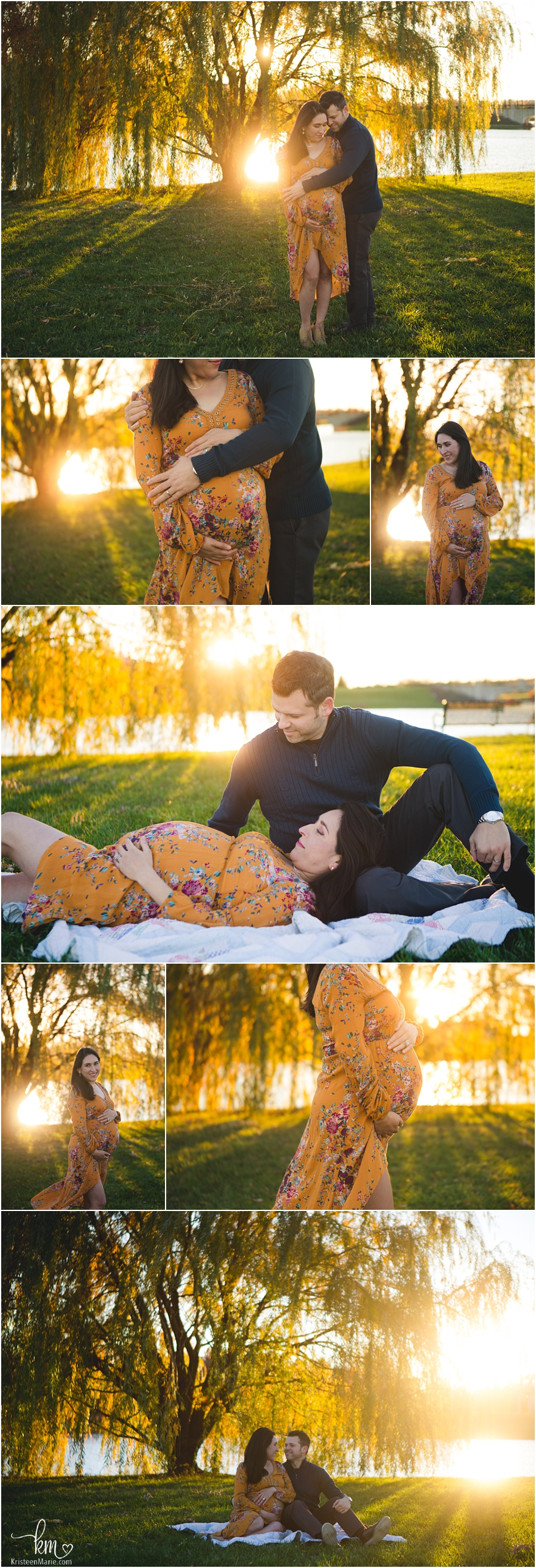 Golden hour sunset maternity photography - stunning