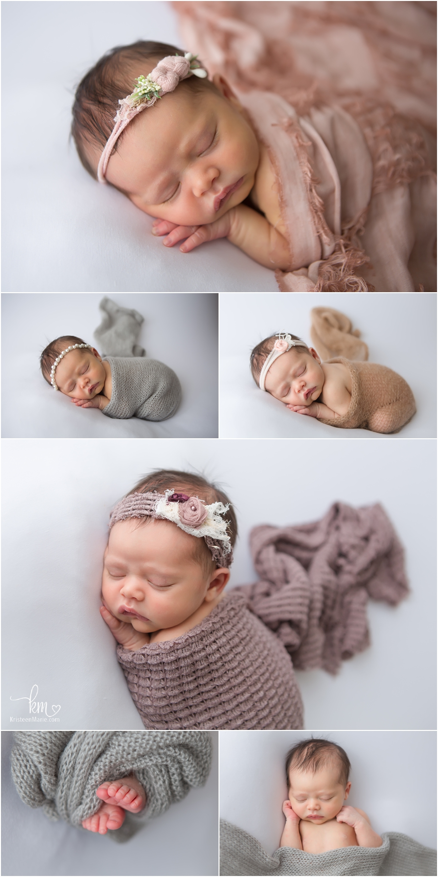 baby on white - sleeping newborn baby from Indianapolis, Indiana