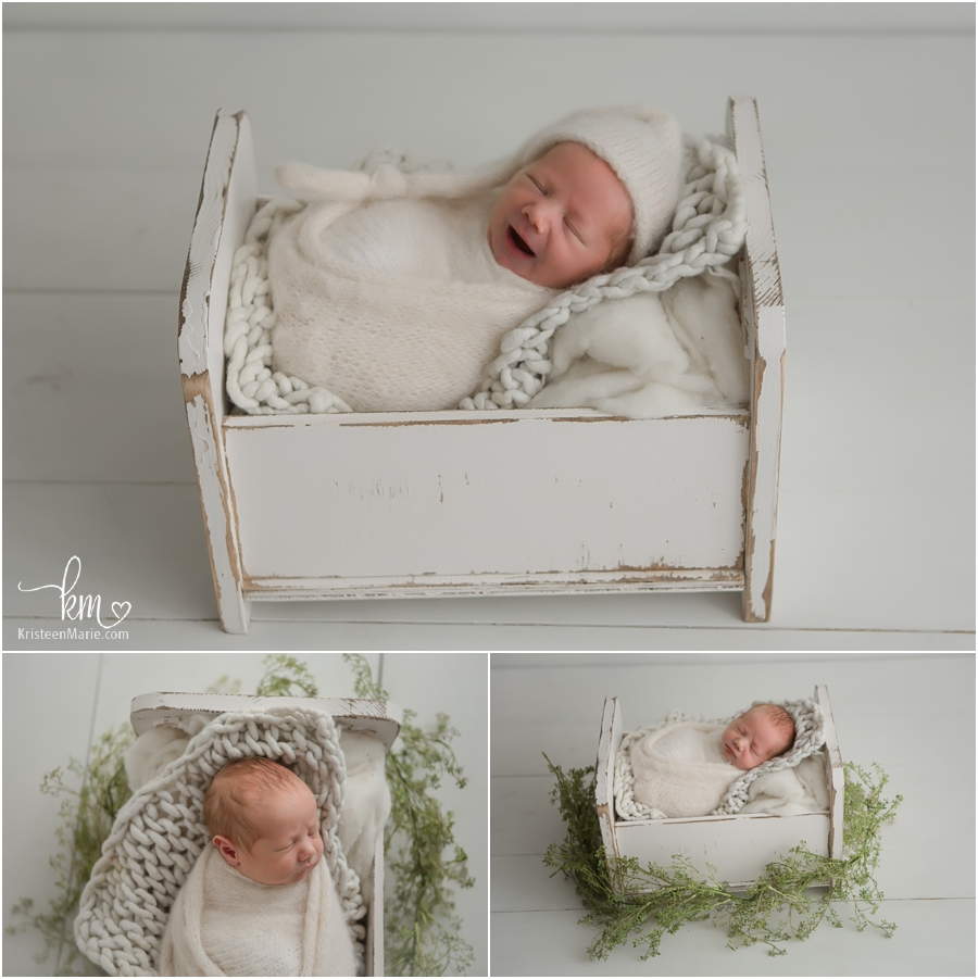 baby on white - newborn photography in Zionsville, IN