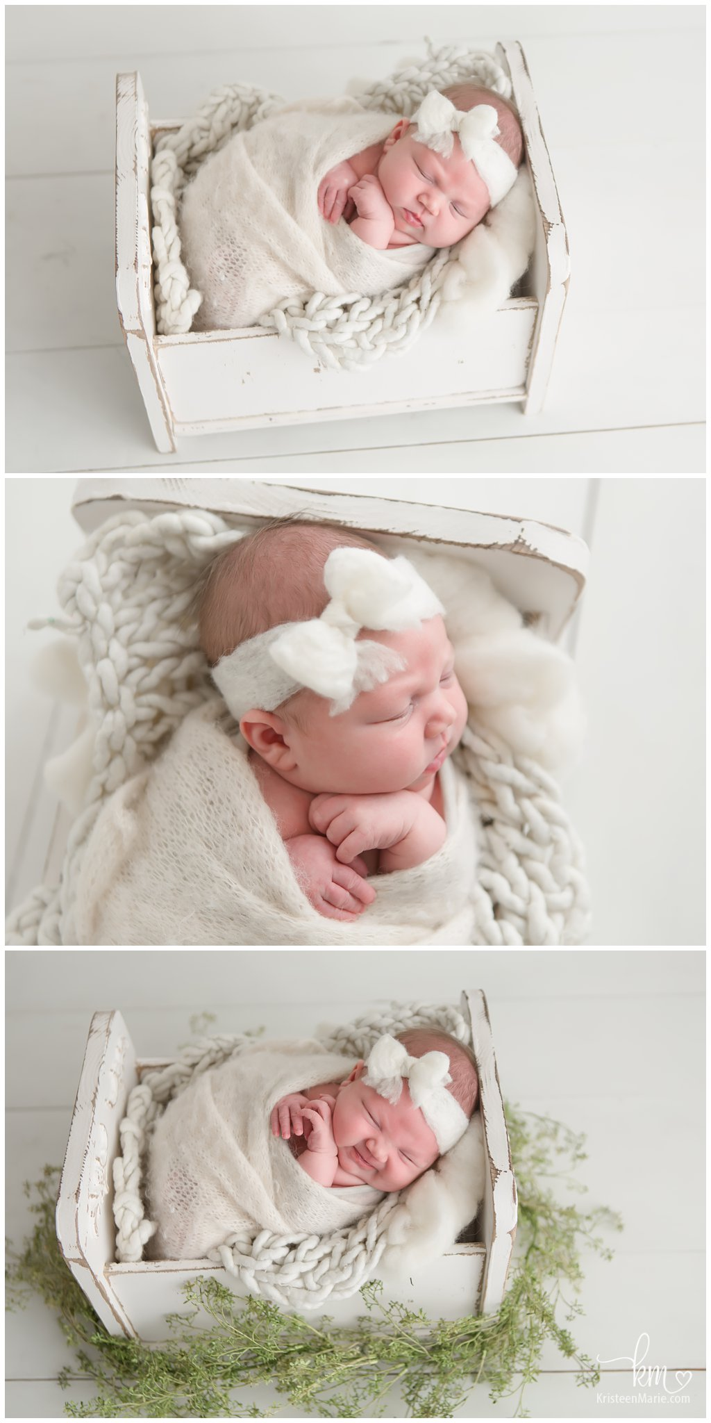Indianapolis newborn photography - neutral colors