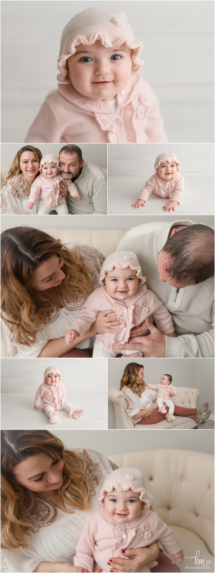 Sitter session poses - baby and family