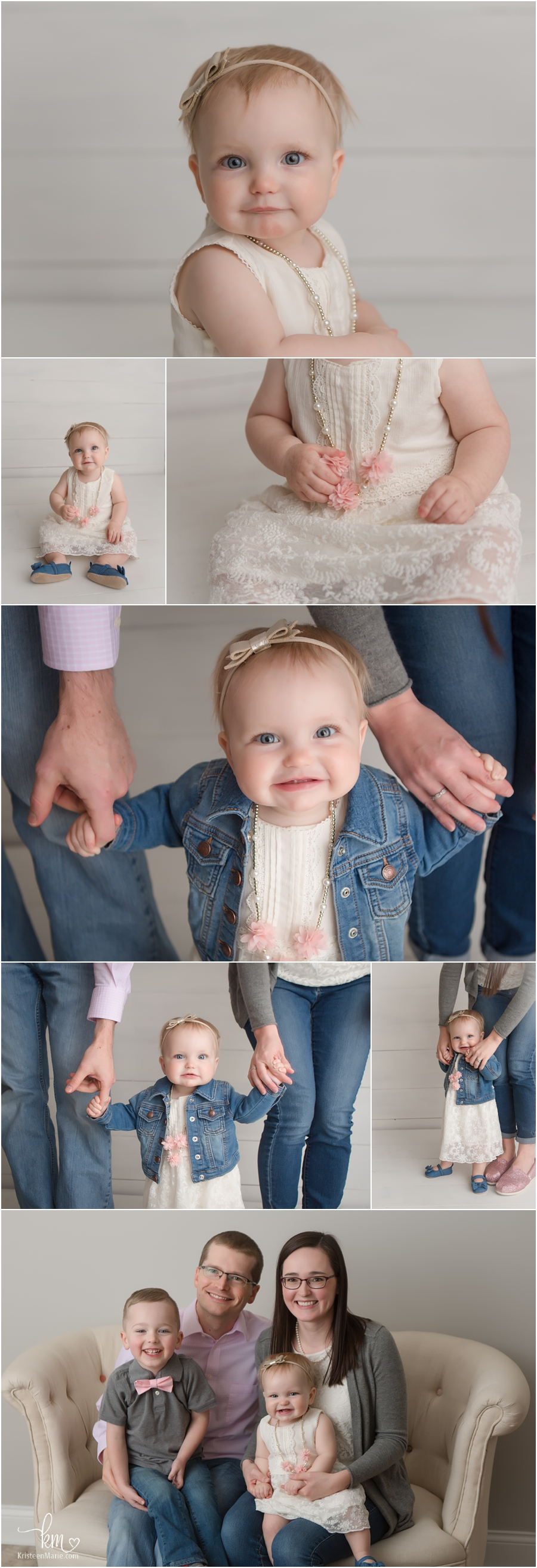 1st birthday pictures of little one-year-old girl