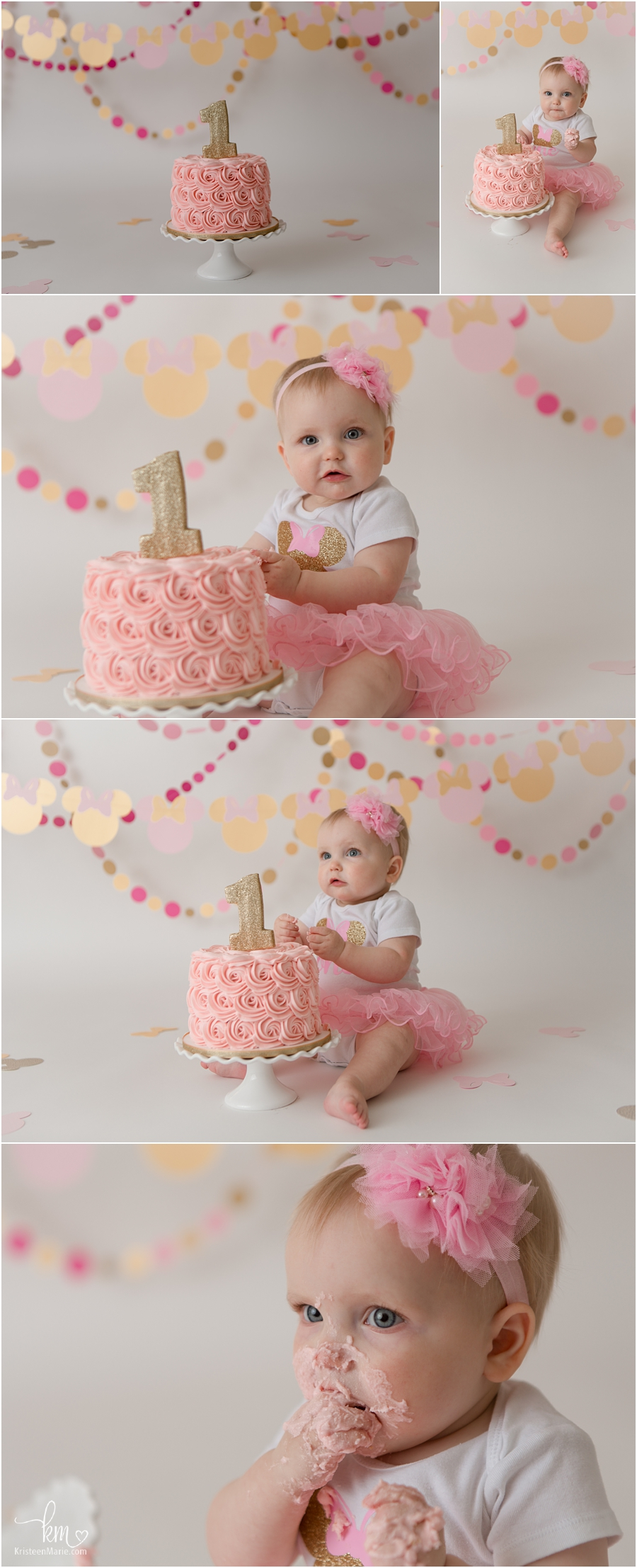 Minnie Mouse Cake Smash Session for first birthday