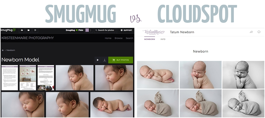 Smugmug vs Cloudspot client galleries for photographers