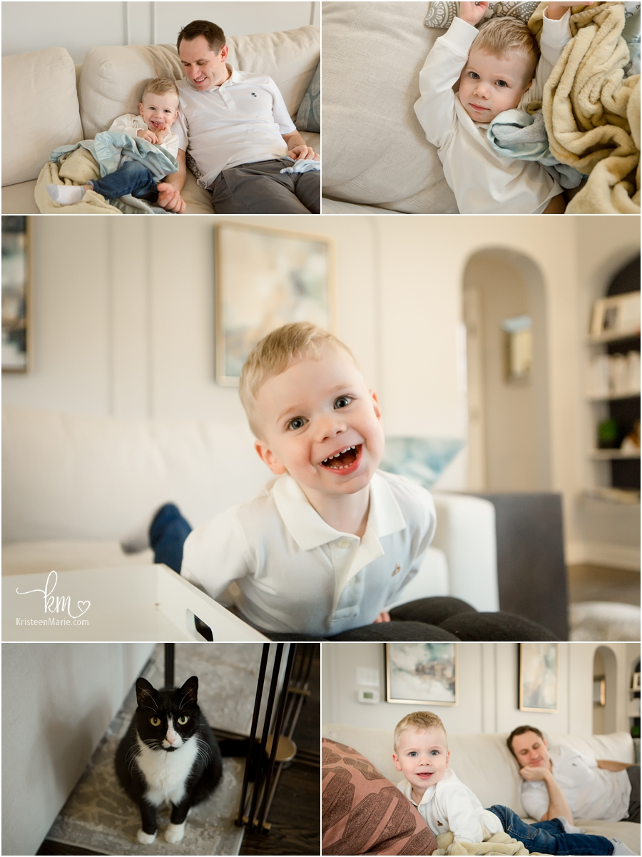 Include the whole family - in home lifestyle newborn photography in Indianapolis