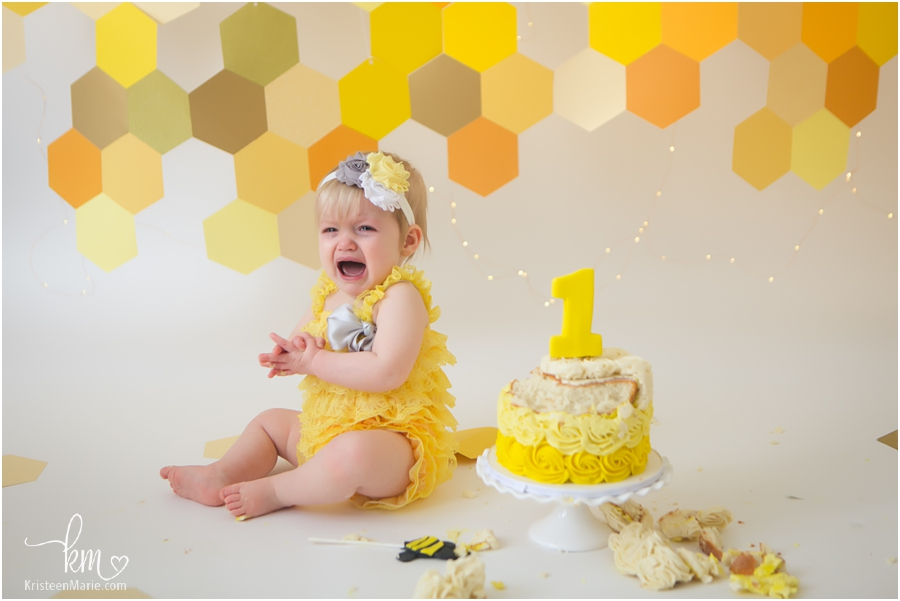 all good things must come to an end - Indianapolis cake smash photography