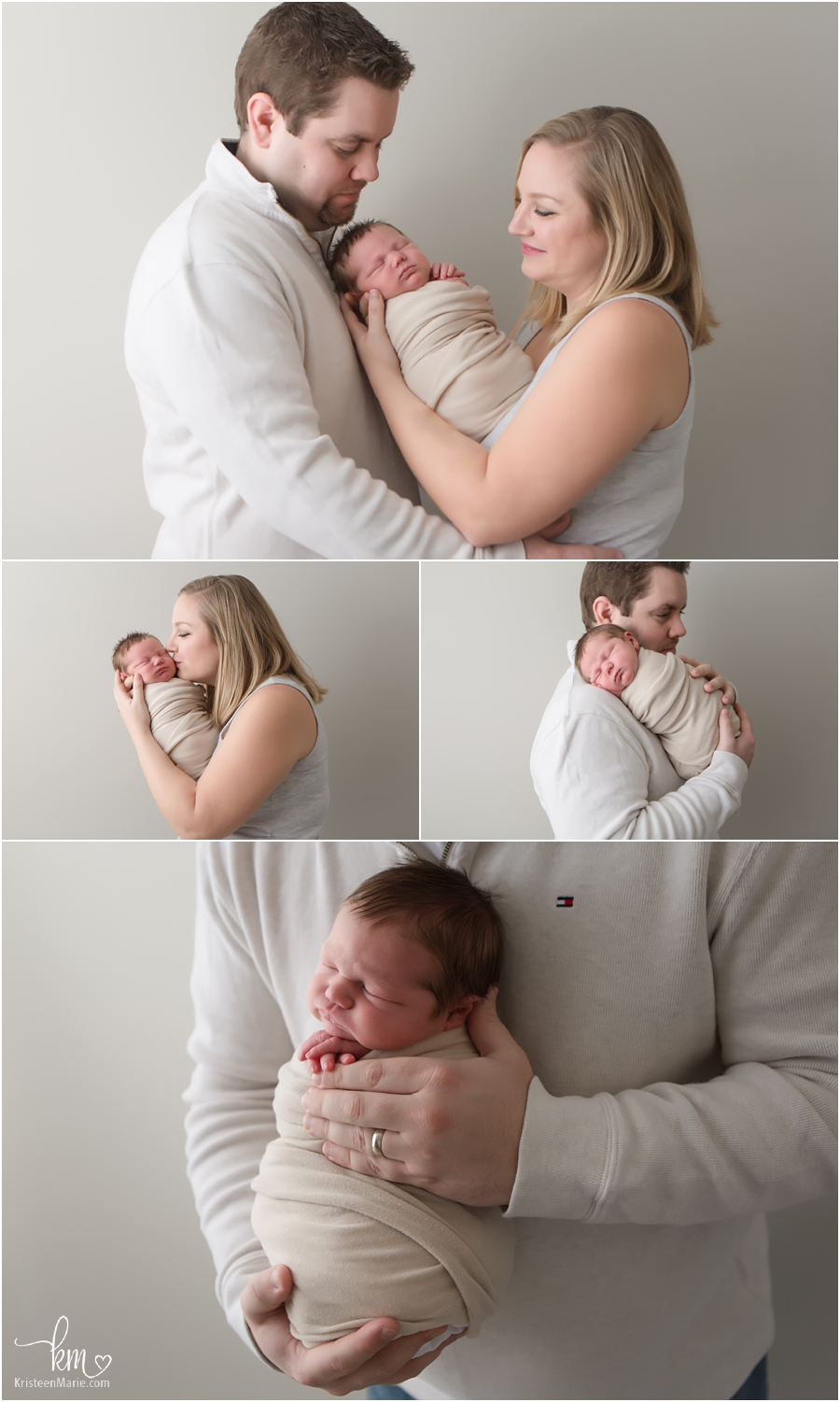 mom and dad from Indianapolis with newborn baby boy - parent and baby poses