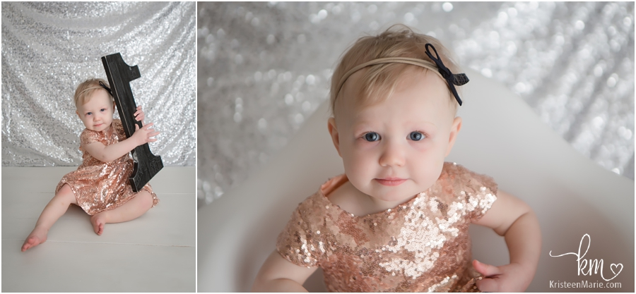 Indianapolis photographer taking pictures of one year old