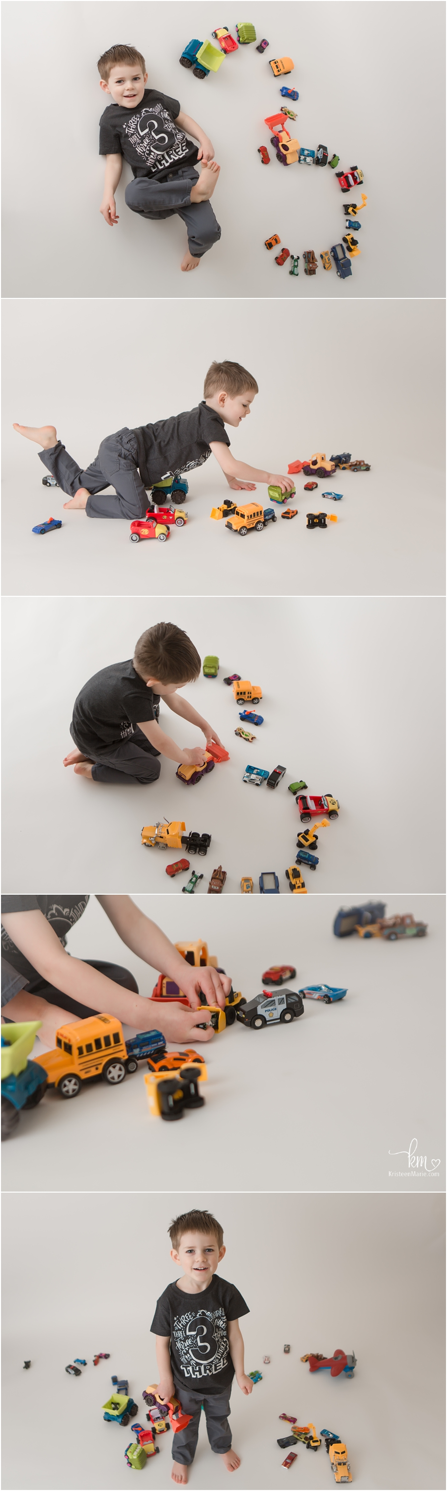 Three year old boy pictures - car themed