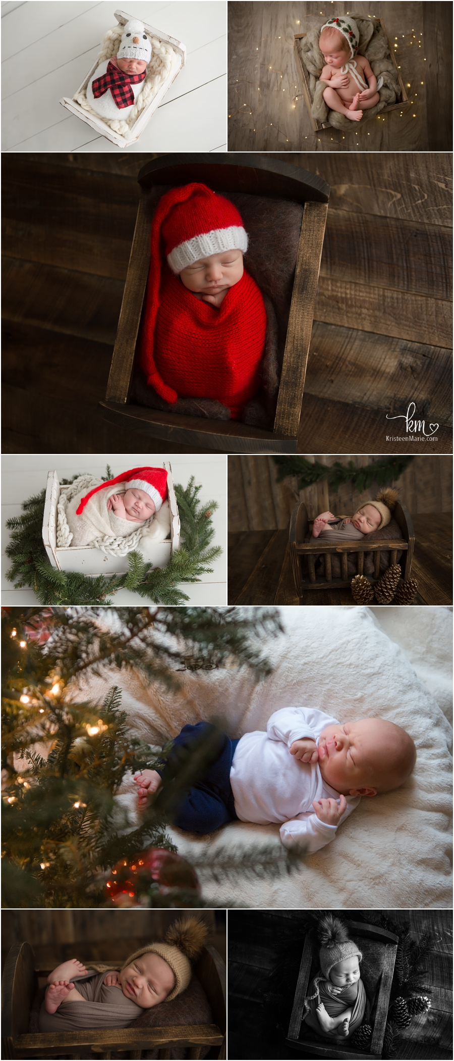 newborn photography Christmas theme setups