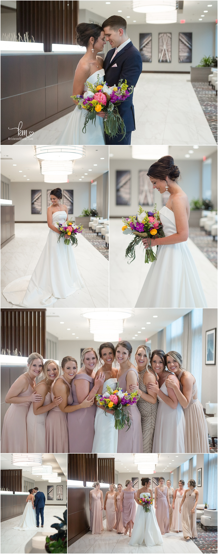stunning wedding party