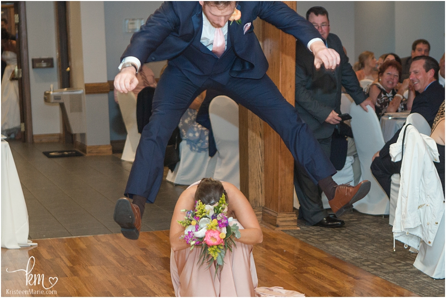 crazy dance moves at wedding