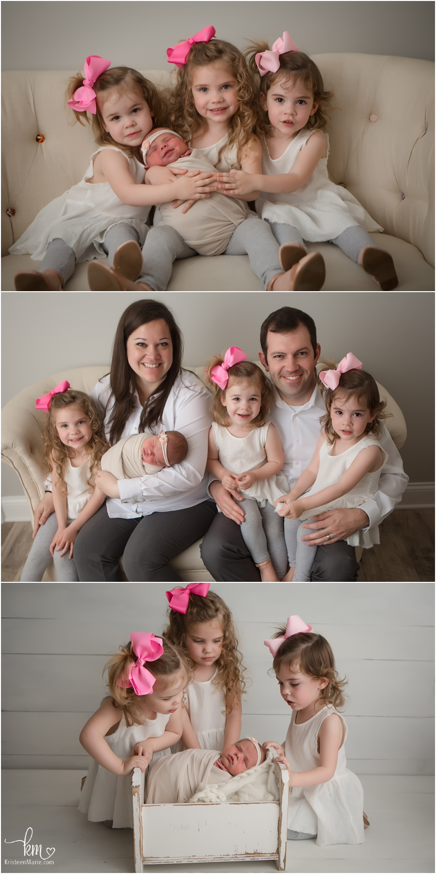 4 sisters including newborn baby - Indianapolis newborn photography
