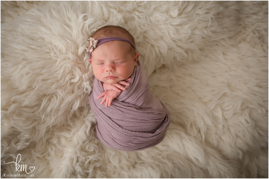 Indianapolis newborn pictures in studio