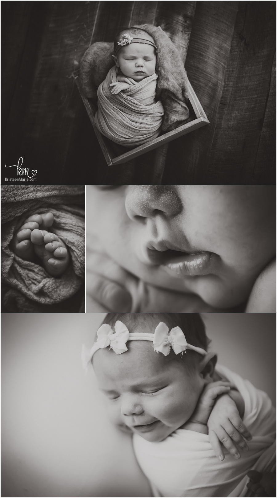 black and white newborn baby pictures