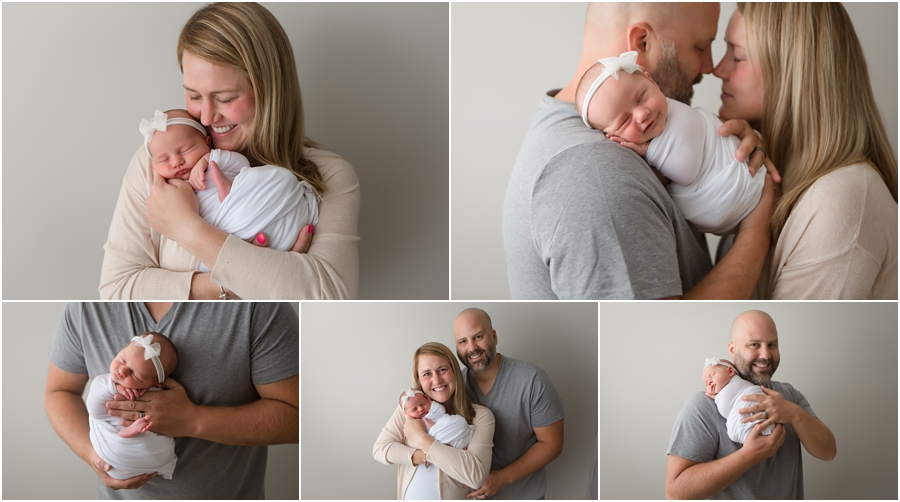parents with newborn - Zionsville family photography