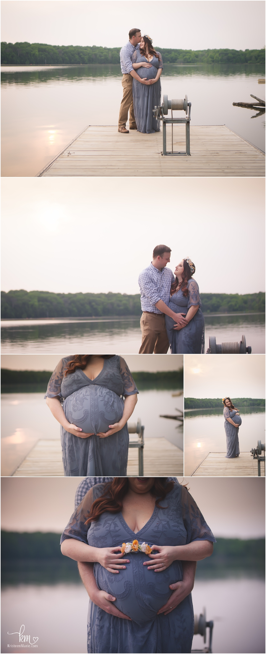 maternity pictures on water