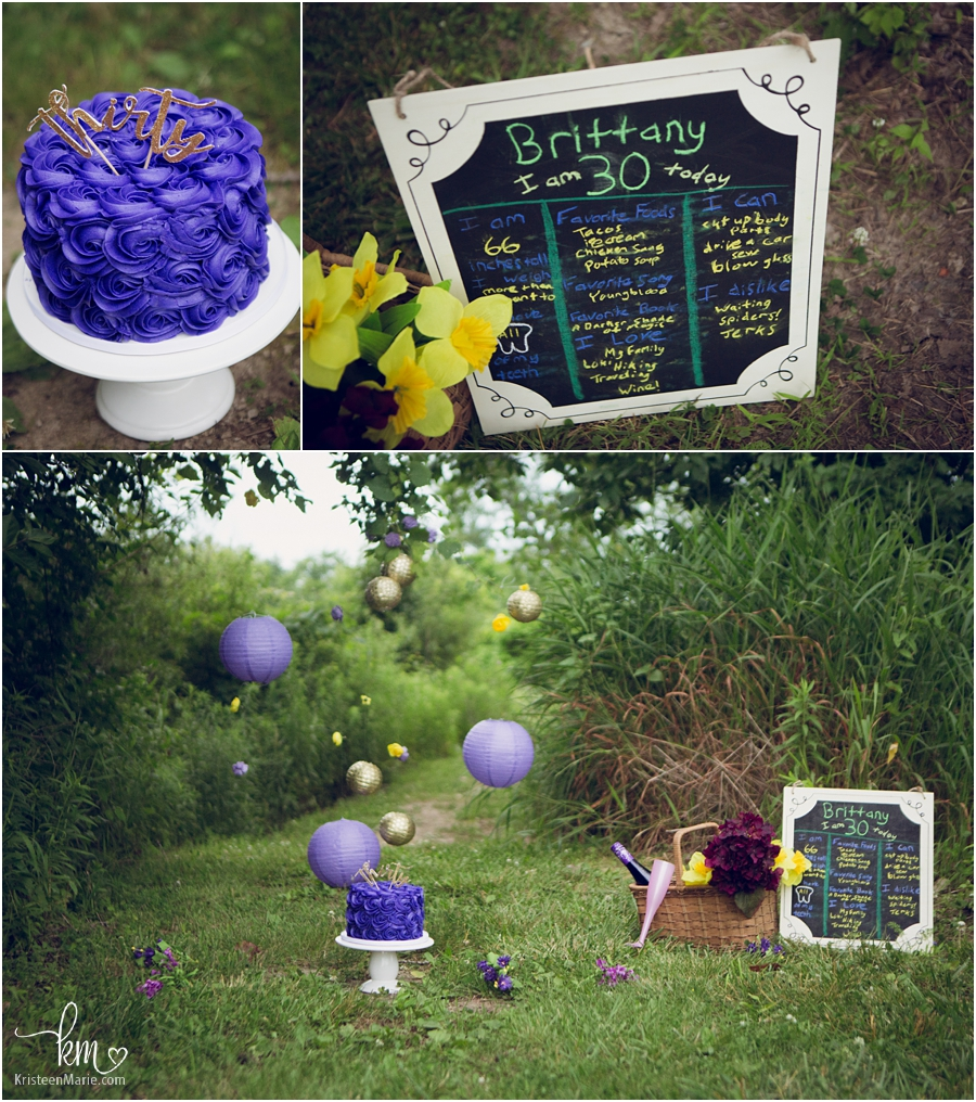 30th birthday cake - cake smash photography session