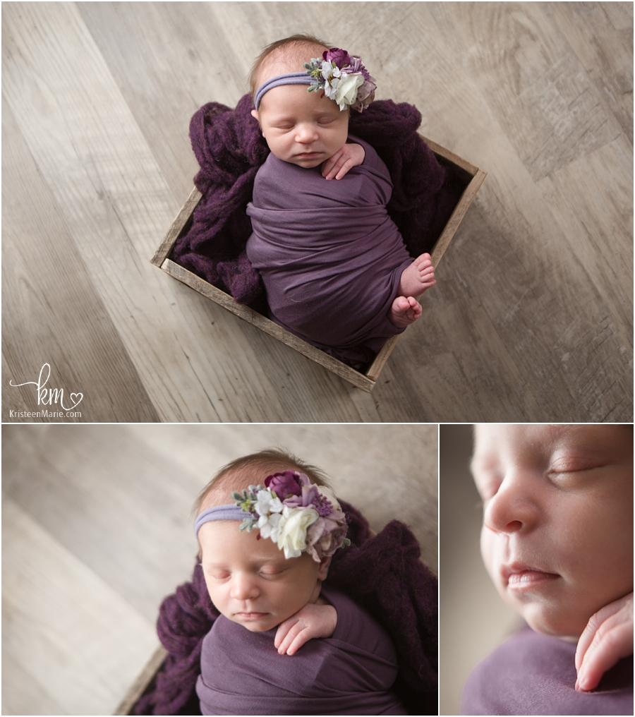all the purple - newborn girl in purple prop