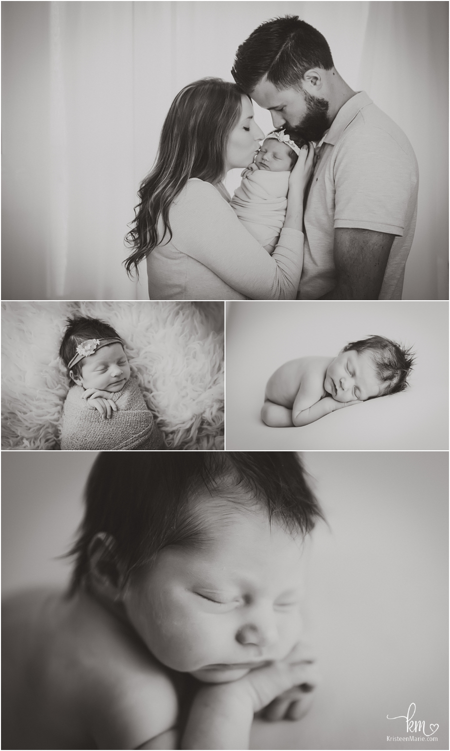 beautiful black and white newborn pictures - Zionsville newborn photographer