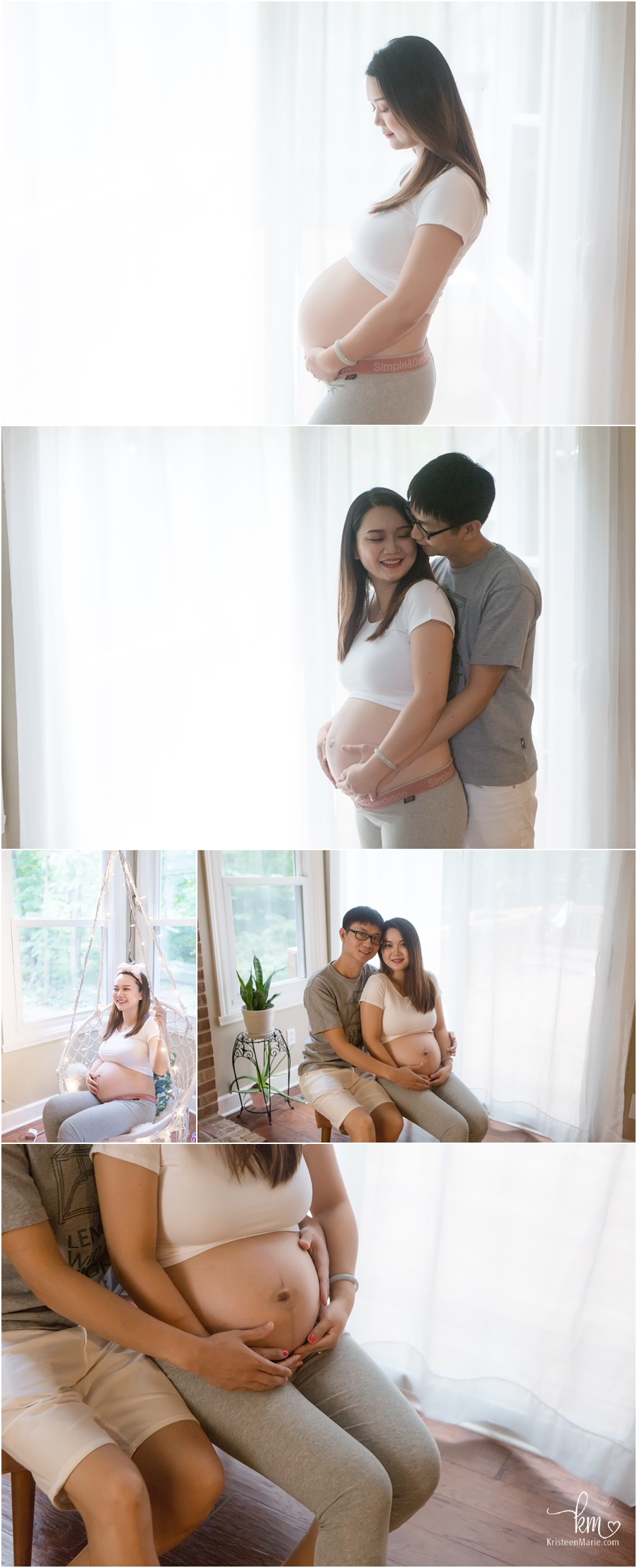 In-home lifestyle maternity photography - Carmel, IN