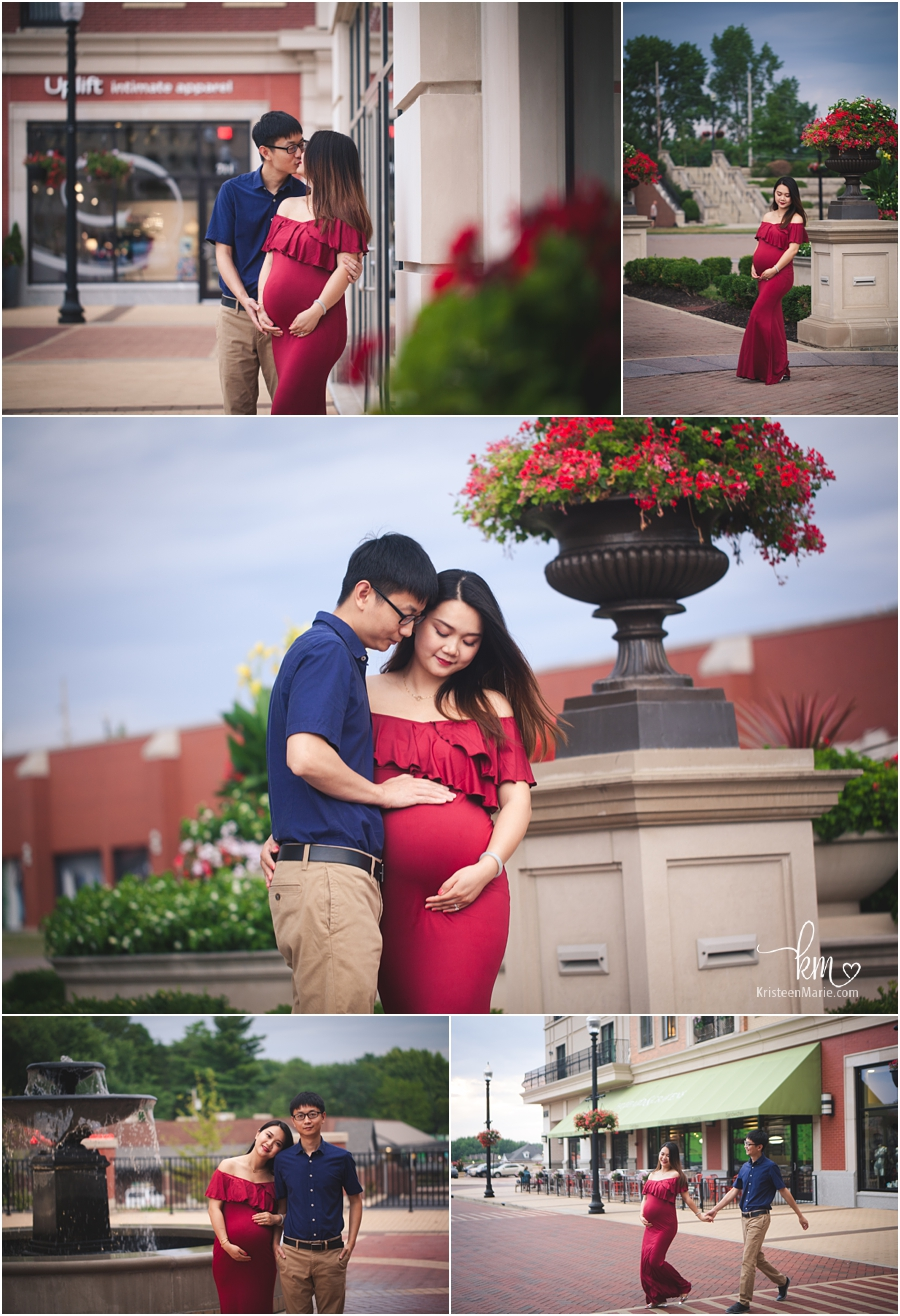 Downtown Carmel maternity photography