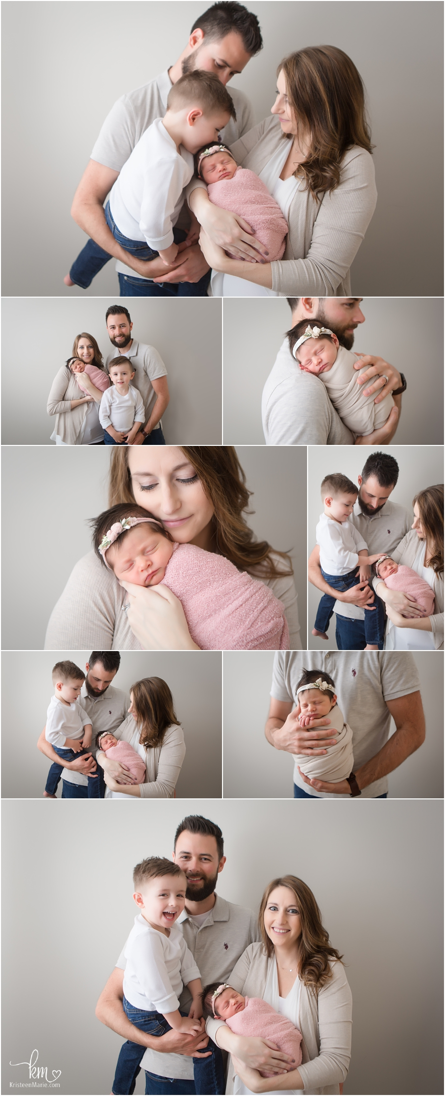 Indianapolis family photography - newborn pictures with family - family poses