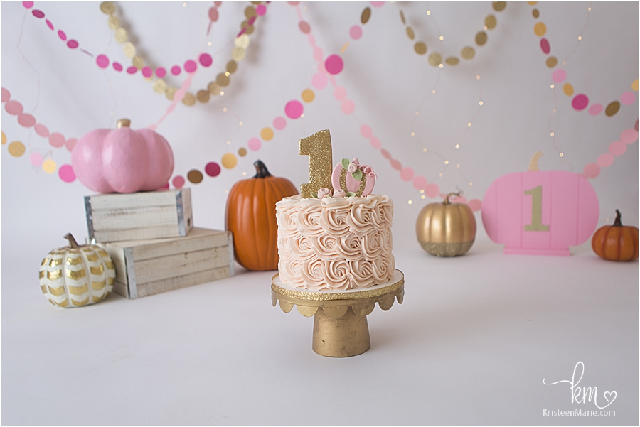 first birthday pink pumpkin