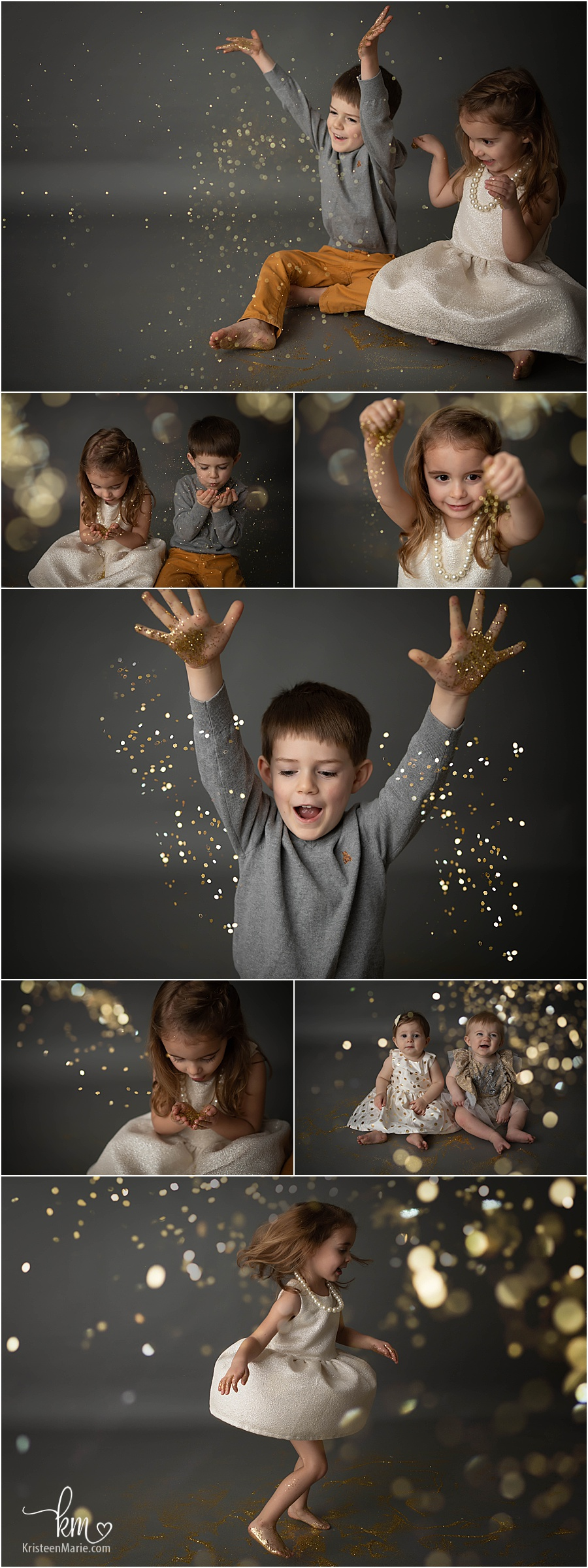 Glitter Mini Session - Gold and Grey