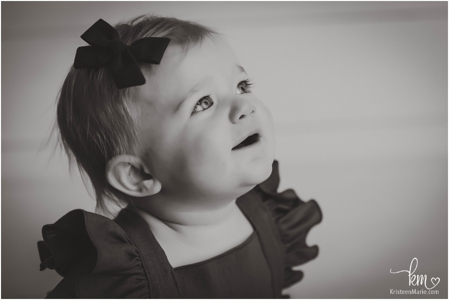 black and white images of baby girl