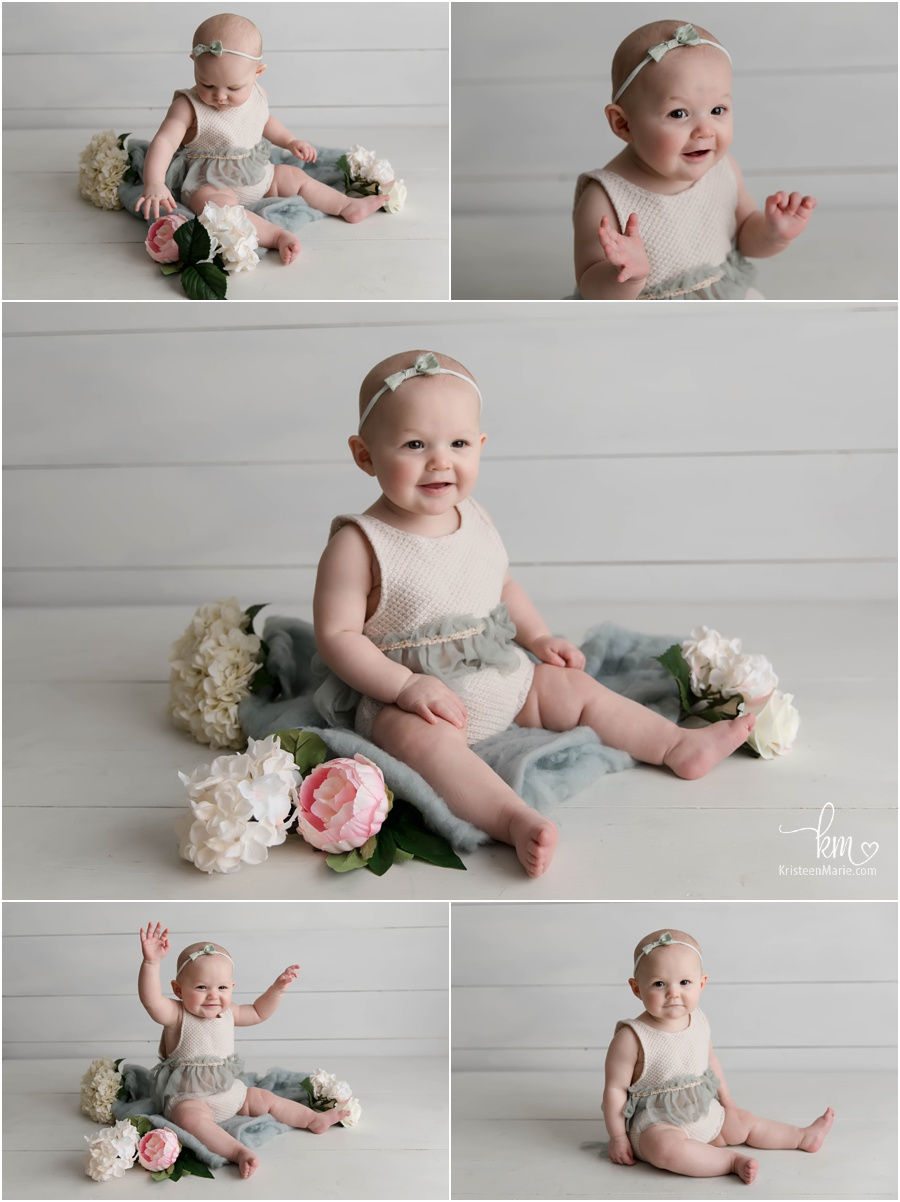 Sitter session - teal with flowers and greenery