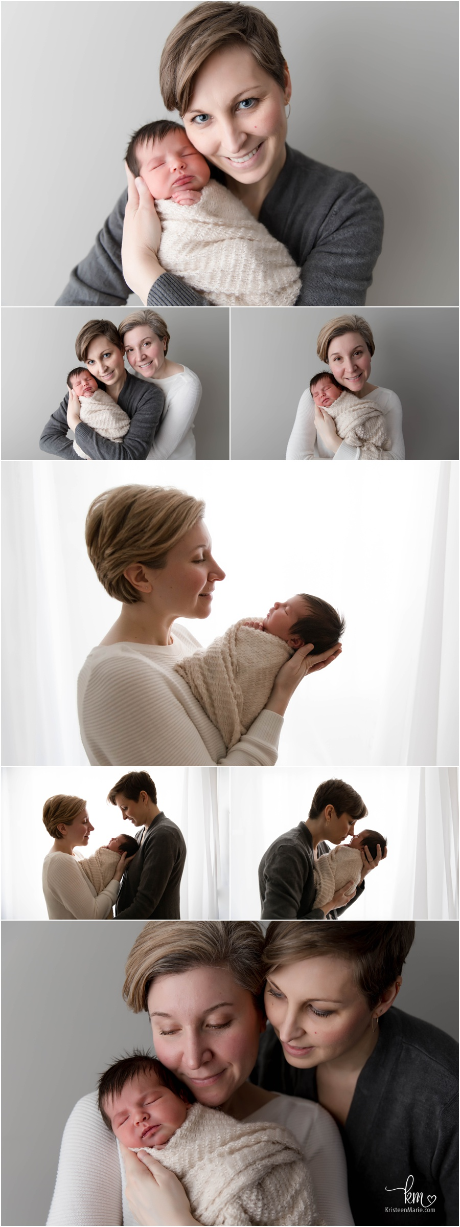 Two moms and newborn baby girl - Same sex couple with newborn