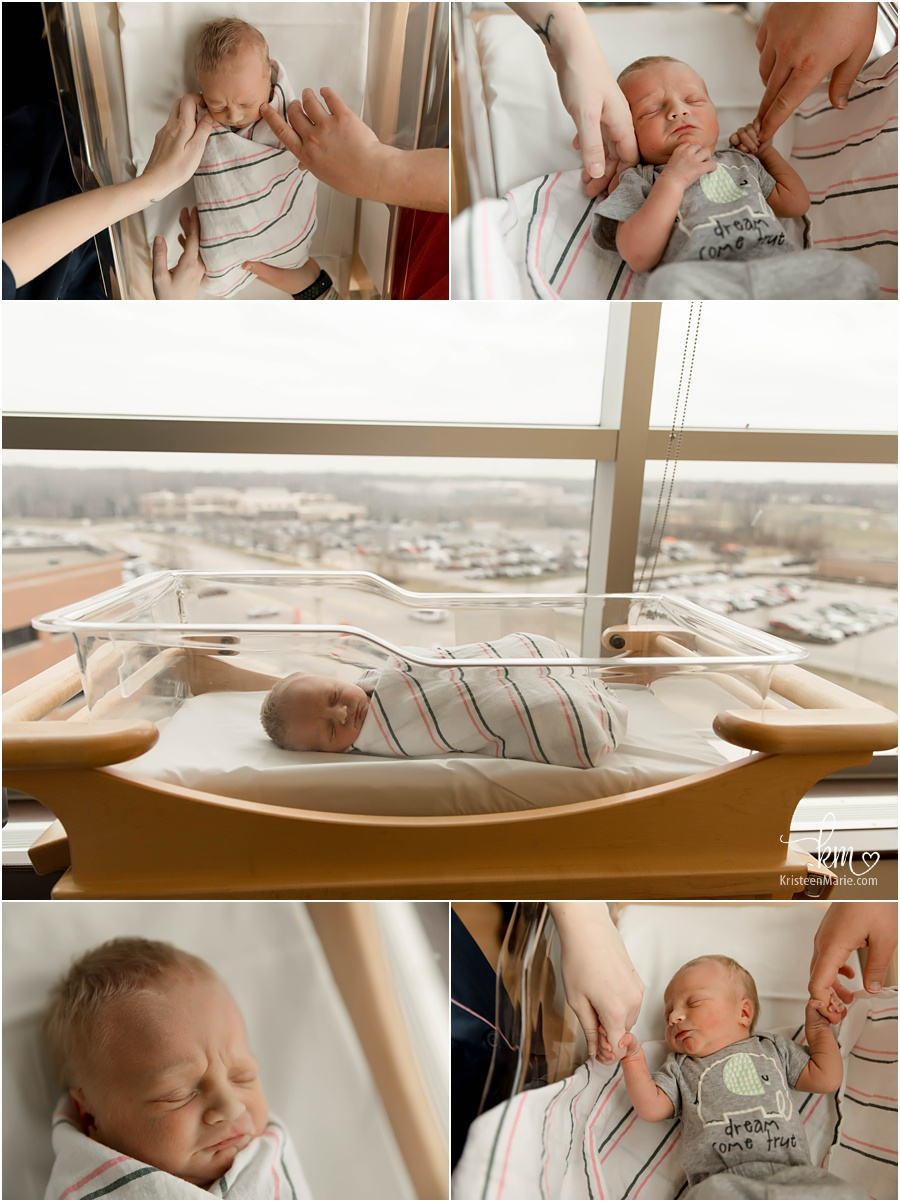 Indianapolis fresh 48 session - in-hospital newborn photography