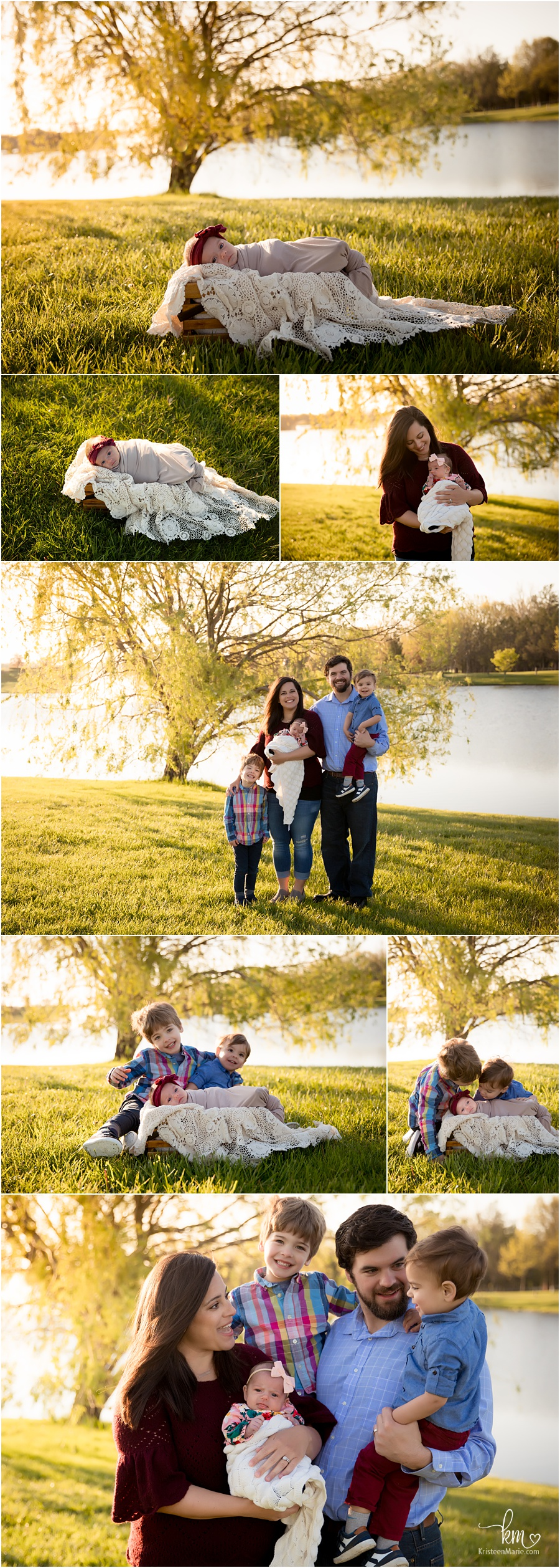 Outdoor newborn photography - Indianapolis photographer