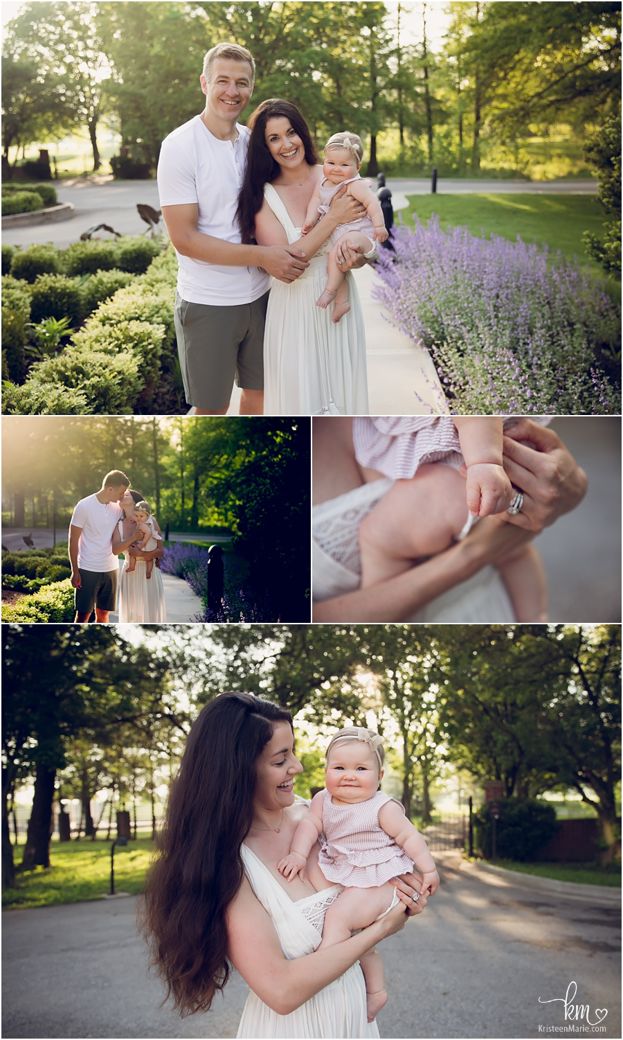 outdoor family pictures at sunrise