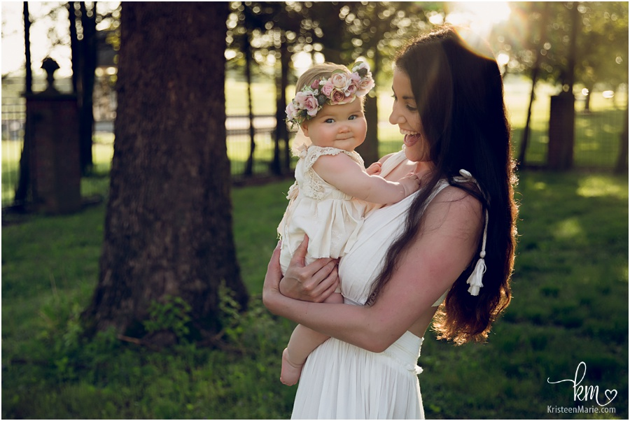 mom and baby - boho image