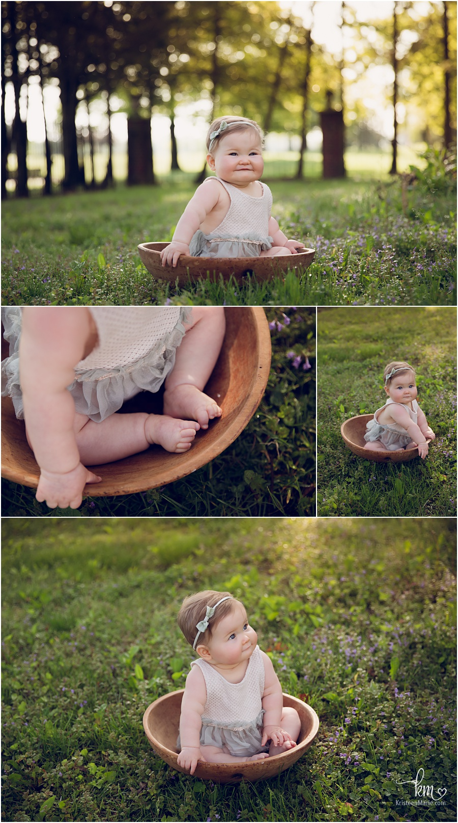 outdoor sitter session - Carmel milestone photogrpahy