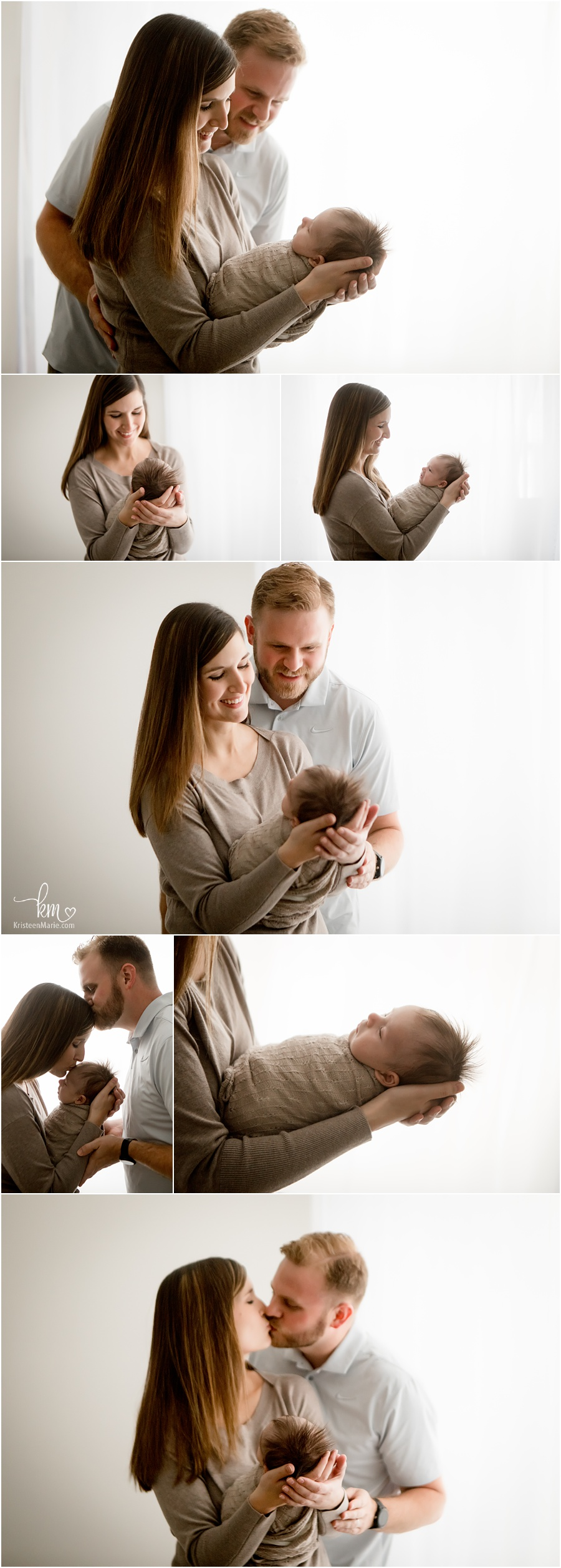 backlit newborn pictures with family
